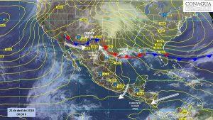 Se prevén por la noche tormentas fuertes en zonas de Chiapas, Veracruz, Oaxaca y Tabasco