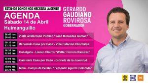 Gerardo Gaudiano inicia en Huimanguillo su campaña para gobernador de Tabasco