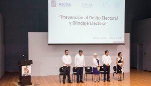 Brindan capacitación en la UJAT, sobre Blindaje Electoral y Prevención del Delito