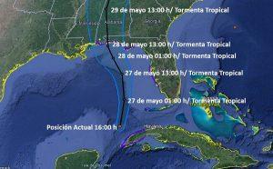 La Tormenta Tropical Alberto se aleja gradualmente de la Península de Yucatán