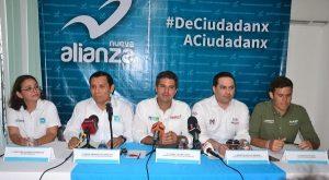 Dirigentes del PRI, PVEM y PANAL en Campeche reconocen propuestas de Cetina