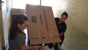 Llegan urnas para las elecciones del 1 de julio al Distrito 15 del OPLE en Veracruz