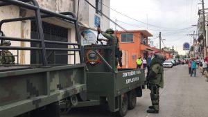 Ejército mexicano recupero y traslado de un artefacto explosivo en Paraíso, Tabasco