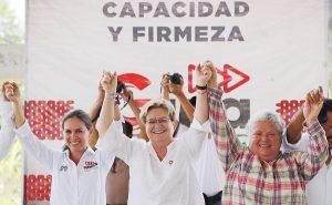 Gina Trujillo recibe el respaldo de la diputada del PRD, María Estela de la Fuente