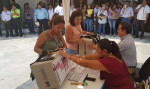 Primer simulacro de recepción de paquetes electorales del IEPC  en Tabasco