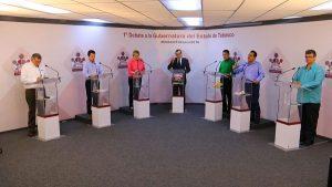 Candidatos se enfrentan en sus propuestas para atender la inseguridad en Tabasco