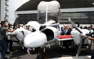 Muestran en video aviones que vigilarán Veracruz