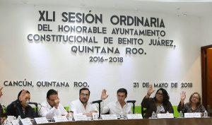 Ratifica Ayuntamiento de Benito Juárez modificaciones del programa de inversión 2018