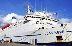 Barco Logos Hope la biblioteca más grande del mundo llega a Coatzacoalcos, Veracruz