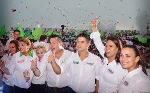 Se respira el aroma a triunfo, candidatos del PRI cierran campaña en Campeche