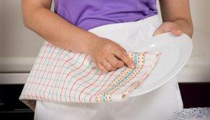 Cuidado, las toallas de cocina son un peligro