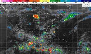 Cinco sistemas tropicales mantendrán el primer temporal de lluvias de 2018 en México