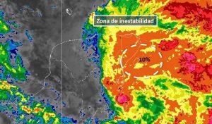 Se genera zona de inestabilidad al este de la Península de Yucatán