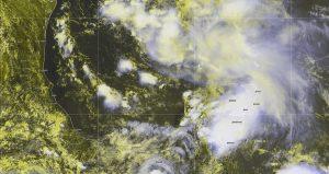 Se mantiene el potencial de fuertes lluvias en la Península de Yucatán
