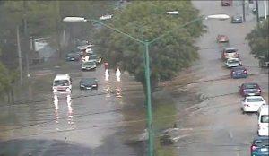 Inundaciones y caída de árboles por lluvia en Xalapa
