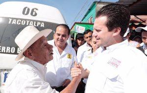 Yo compito contra Adán Augusto ¡Y le voy a ganar! afirma en Tacotalpa Gerardo Gaudiano