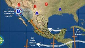 Temperaturas máximas de 40 a 45 grados Celsius se estiman en zonas de 11 estados de México