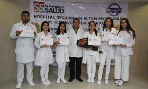 Concluyen médicos del hospital Rovirosa Servicio social