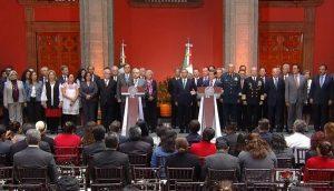 Frente a Peña Nieto, confirma AMLO que se cancelará la Reforma Educativa
