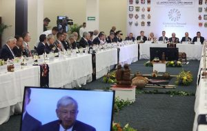 Rolando Zapata Bello en segunda reunión entre integrantes de Conago y Presidente electo de México