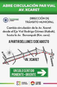 Por concluir primera fase del proyecto de pares viales Xcaret-Coba