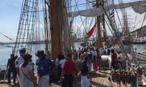 Alrededor de 28 mil personas visitaron los veleros en el primer día del Festival Velas Veracruz 2018