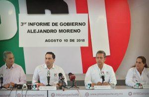 Alejandro Moreno Cárdenas marcara una época en la historia de Campeche: PRI