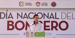 Reconoce Remberto Estrada labor de Bomberos y personal de salud en Benito Juárez
