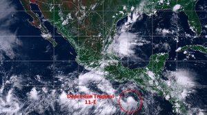 Se pronostican tormentas intensas en Guerrero, Oaxaca, Chiapas, Hidalgo, Puebla y Veracruz