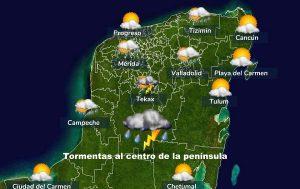 Se pronostican días calurosos, sin descartar lluvias por las tardes en la Península de Yucatán