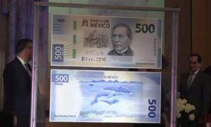 Presentan nuevo billete de 500 pesos, con imagen de Benito Juárez
