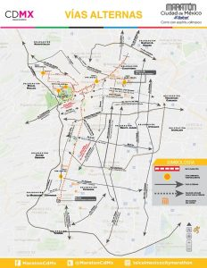 Informa GCDMX cortes a la circulación en principales avenidas por Maratón de la Ciudad de México Telcel 2018