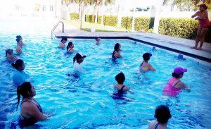 Exitosa clase de Aquaerobics en Campeche