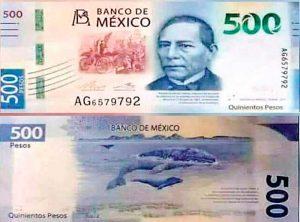 Lanzan en redes nuevo billete de 500 pesos