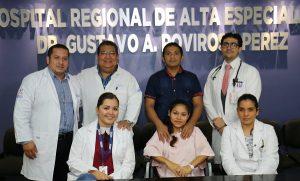 Atienden parto de paciente grave en el Hospital Rovirosa