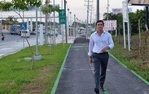 Destaca Remberto Estrada importancia de paseos urbanos integrales en Cancún