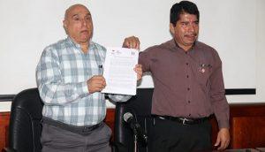 Firman acuerdo Cobatab y sindicato