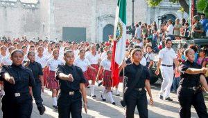 Más de tres mil estudiantes, en el Desfile del 16 de septiembre en Yucatán