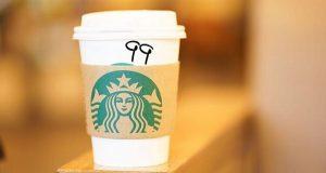 """Este domingo tu vaso de Starbucks será marcado con un """"99"""""""