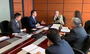 Se reúne Alejandro Moreno Cárdenas con el próximo secretario de Hacienda, Carlos Urzúa Macías