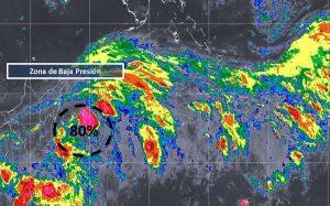 Baja presión en el Mar Caribe mantiene 80% de probabilidad de desarrollo ciclónico