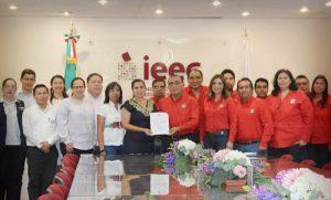 Presenta PRI su nueva dirigencia ante el IEEC