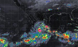 Se pronostican tormentas intensas en Michoacán y Guerrero debido a la Depresión Tropical 22-E