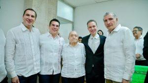 Asistió Alejandro Moreno Cárdenas al Sexto Informe de Manuel Velasco Coello gobernador de Chiapas