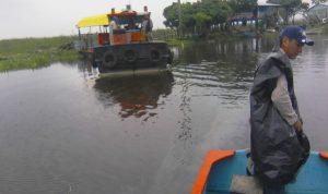 Denuncian derrame de aceite en el Rio Los Bitzales, Tabasco