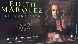 Corrige Edith Márquez error en un espectacular de su concierto