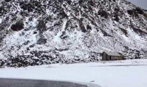 Nevado de Toluca se pinta de blanco
