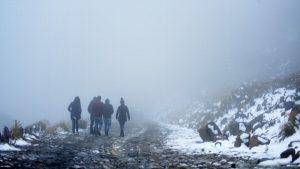 La nieve congela el paisaje en el Cofre de Perote, Veracruz