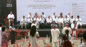Asiste Núñez a ceremonia de inicio de construcción del Tren Maya