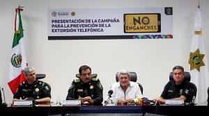 Campaña de prevención, para evitar la extorsión telefónica y el secuestro virtual en Yucatán